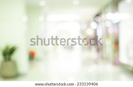 Vintage filtered blur store with bokeh background - stock photo