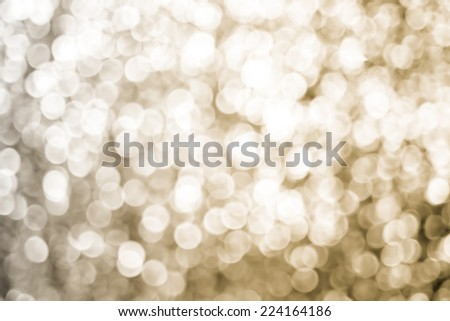 Vintage filtered :Silver Sparkling bokeh background - stock photo