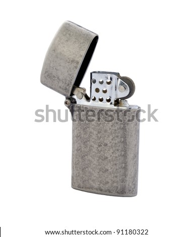 vintage fire lighter isolated - stock photo