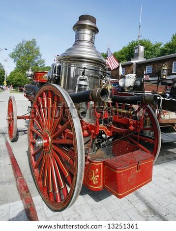vintage firetruck - stock photo