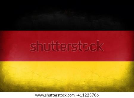 Vintage flag of Germany - stock photo