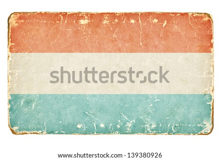 Vintage Flag of Luxembourg. - stock photo