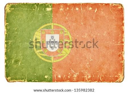 Vintage flag of Portugal. - stock photo