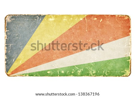 Vintage Flag of Seychelles. - stock photo
