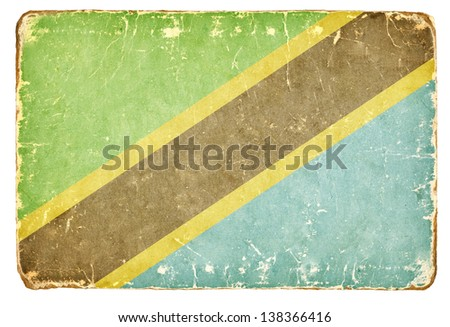 Vintage Flag of Tanzania. - stock photo