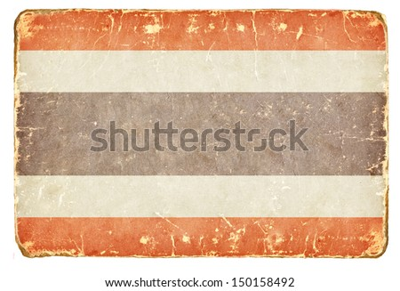 Vintage Flag of Thailand. - stock photo