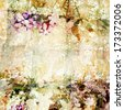 Vintage floral background. Grunge background. Old texture. Provence card. - stock photo