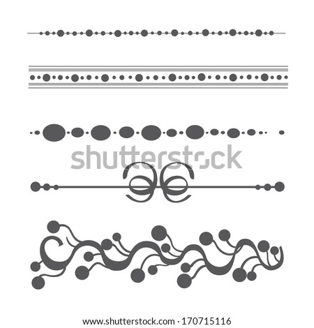 Vintage floral design elements on white background - stock photo