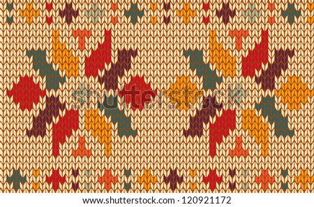 Vintage floral knitting seamless pattern useful for fashion and textile industry.
