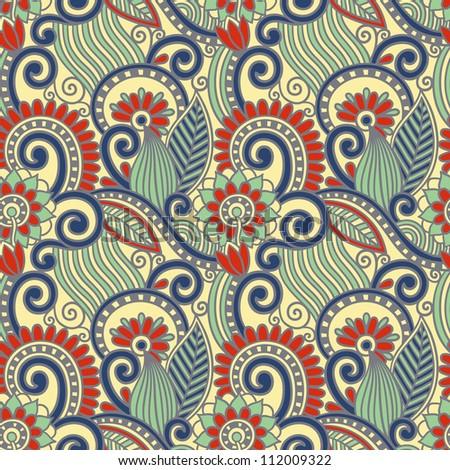 vintage floral seamless pattern. Raster version - stock photo