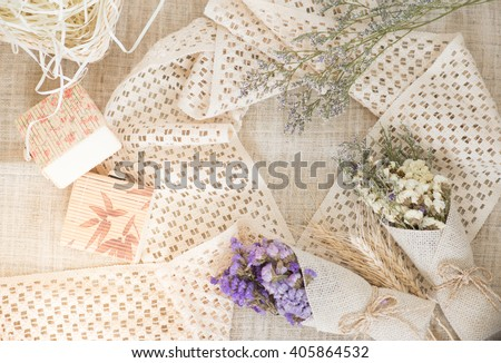 vintage flower and background
