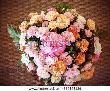 Vintage Flowers soft blur. - stock photo