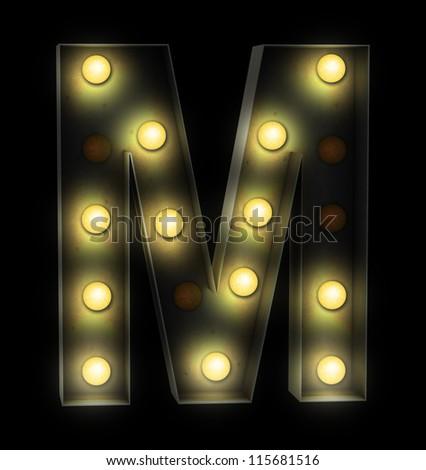 vintage font sign light - stock photo