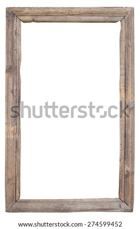 Vintage frame from old wood - stock photo