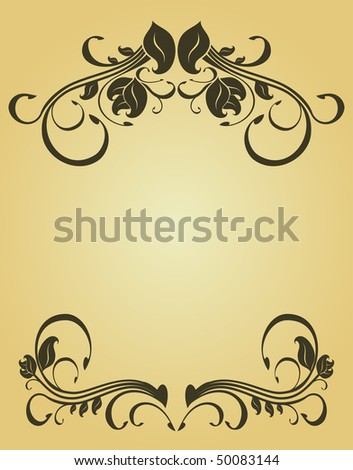 Vintage frame in victorian style for design as a background. Vector version is also available
