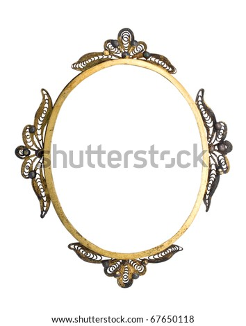 vintage frame isolated with clipping path