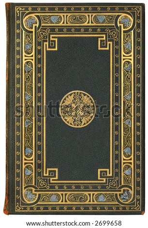 Vintage French Book Cover 1901, edition 7/100 - stock photo