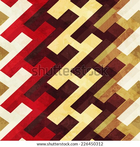 vintage geometric seamless pattern (raster version) - stock photo