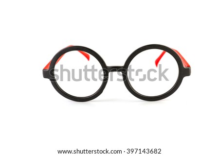 vintage glasses isolated on a white background - stock photo