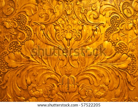Vintage gold surface. Background or texture - stock photo
