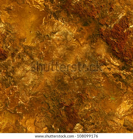 vintage golden seamless background - stock photo