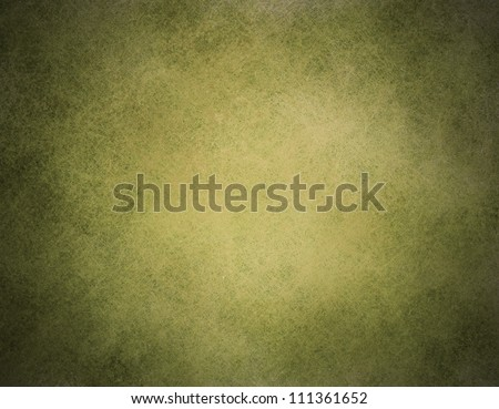 vintage green background illustration design on old black faded grunge background texture layout of light center and dark vignette edges abstract olive background paper for brochure ad or web template - stock photo