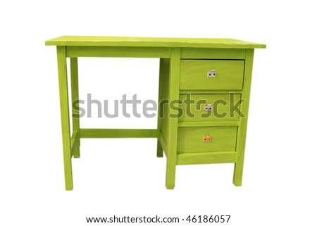 Vintage green desk - stock photo