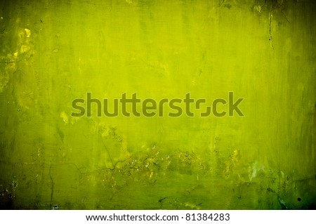vintage green textured background with artistic shadows added - stock photo