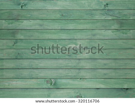 Vintage green wood panel fine arranged as wall for interior design and exterior decoration - stock photo