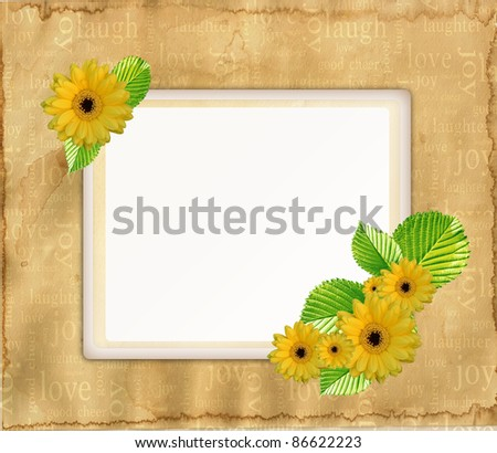 Vintage greeting card - stock photo