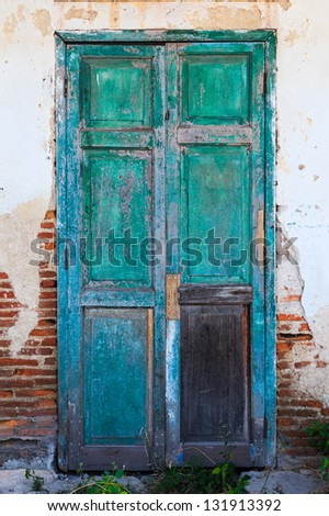 vintage grunge door - stock photo