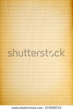 Vintage grunge page old school notebook paper - stock photo