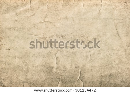 Vintage grungy cardboard. Used stained paper texture - stock photo