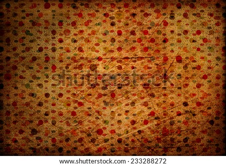 Vintage grungy dotted background, retro style - stock photo