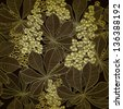 Vintage hand drawn background with chestnut flowers. Raster version of the vector image - stock photo