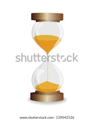 vintage hourglass in  frame isolated on white background. raster version, vector file also included