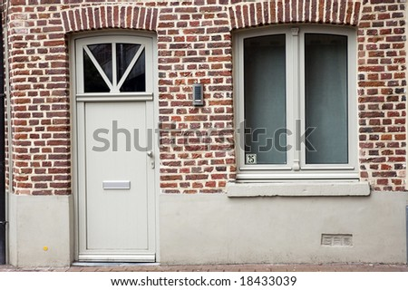 Vintage house outdoor - stock photo