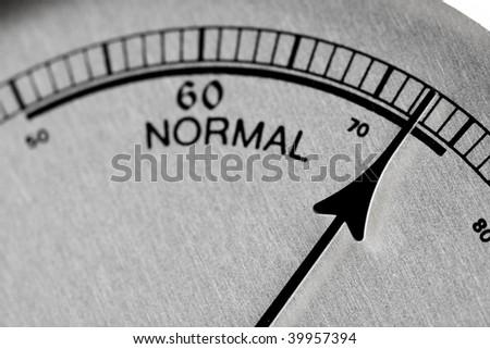 vintage humidity meter (hygrometer)  close-up - stock photo