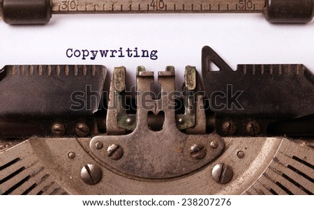 Vintage inscription made by old typewriter, copywriting - stock photo