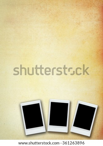 vintage instant photo with grunge background  - stock photo