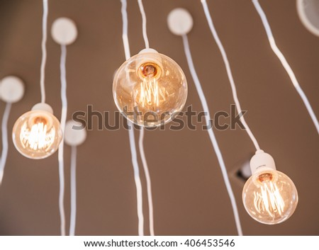 Vintage interior Lighting lamp decor - stock photo