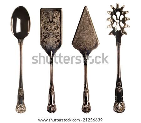 Vintage kitchen utensils - stock photo
