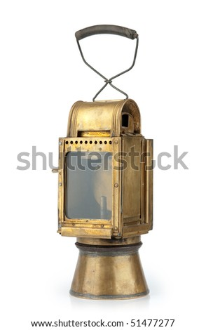 Vintage lamp isolated on a white background - stock photo