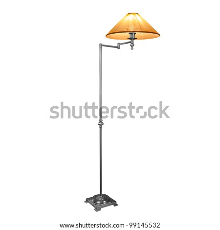 Vintage lamp isolated on white with clipping path - stock photo
