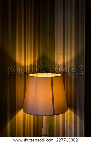 vintage lamp of interior creative conception