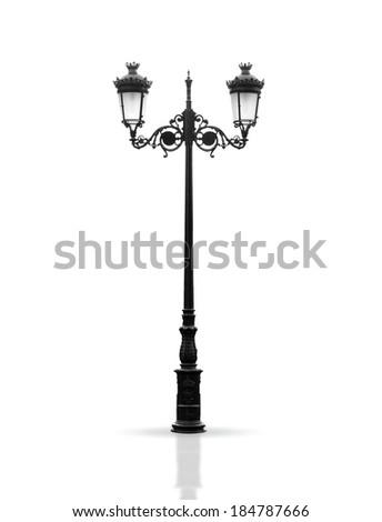 vintage lamppost - stock photo