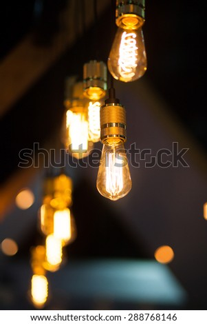 Vintage lamps for interior decoration. - stock photo