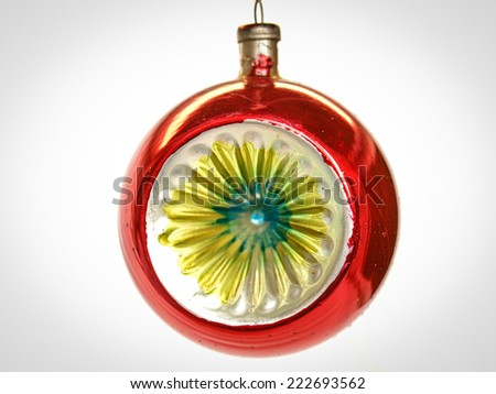 Vintage looking Bauble for Christmas tree decoration - stock photo
