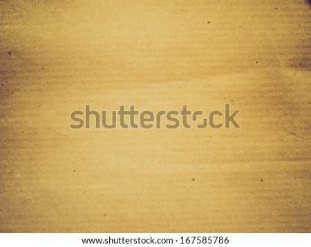 Vintage looking brown corrugated cardboard sheet background