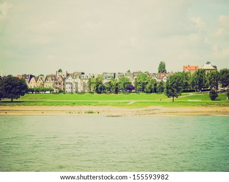 view river rhein rhine duesseldorf germany stockfoto 125916488 shutterstock. Black Bedroom Furniture Sets. Home Design Ideas